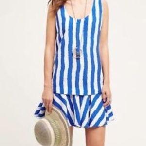 Anthropologie 11.1 Tylho Striped Dropwaist Dress